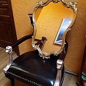 Зеркала ручной работы. Ярмарка Мастеров - ручная работа Зеркало винтаж, дуб, гипс, Европа 60 г. Handmade.