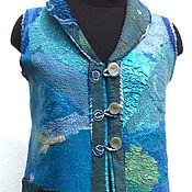 """Одежда ручной работы. Ярмарка Мастеров - ручная работа нуновойлочный жилет""""Белые лилии """". Handmade."""
