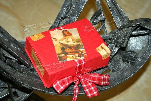Подарочная упаковка ручной работы. Ярмарка Мастеров - ручная работа. Купить Упаковка мужского подарка. Handmade. Упаковка подарка