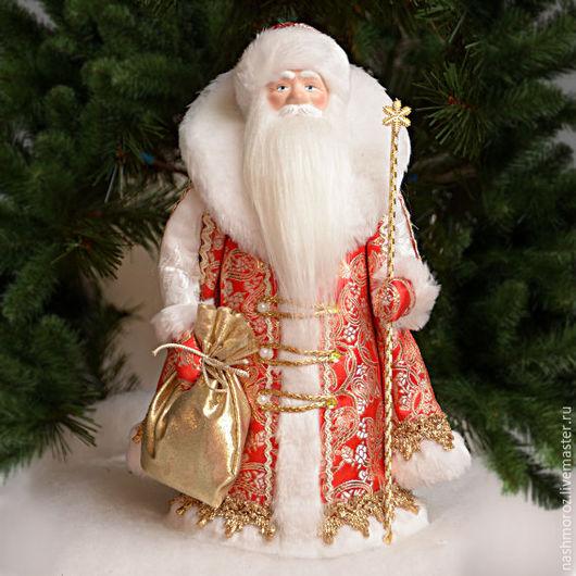 """Новый год 2017 ручной работы. Ярмарка Мастеров - ручная работа. Купить 3. Дед мороз """"Нашмороз"""" под елку, фарфор, 36см. Handmade."""