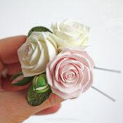 Свадебный салон ручной работы. Ярмарка Мастеров - ручная работа Розы из полимерной глины в прическу.. Handmade.