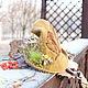 Шляпы ручной работы. Фея Листопада .  Шляпка- вуалетка.. Шляпости   Саши Толчеевой. Интернет-магазин Ярмарка Мастеров. Шляпка лепрекона