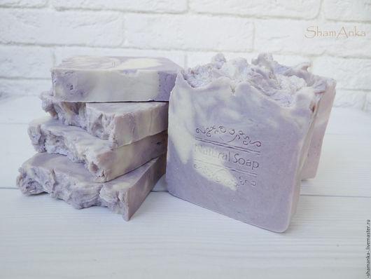 Мыло ручной работы. Ярмарка Мастеров - ручная работа. Купить Фиалковое  мыло с нуля с натуральным шелком Люкс. Handmade.