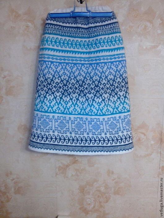 Юбки ручной работы. Ярмарка Мастеров - ручная работа. Купить Шерстяная юбка  Дыхание зимы. Handmade. Орнамент, шерстяная юбка