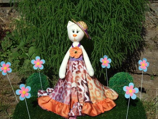 Куклы Тильды ручной работы. Ярмарка Мастеров - ручная работа. Купить Тильда  Кошка Апельсинка. Handmade. Оранжевый, искусственный шёлк
