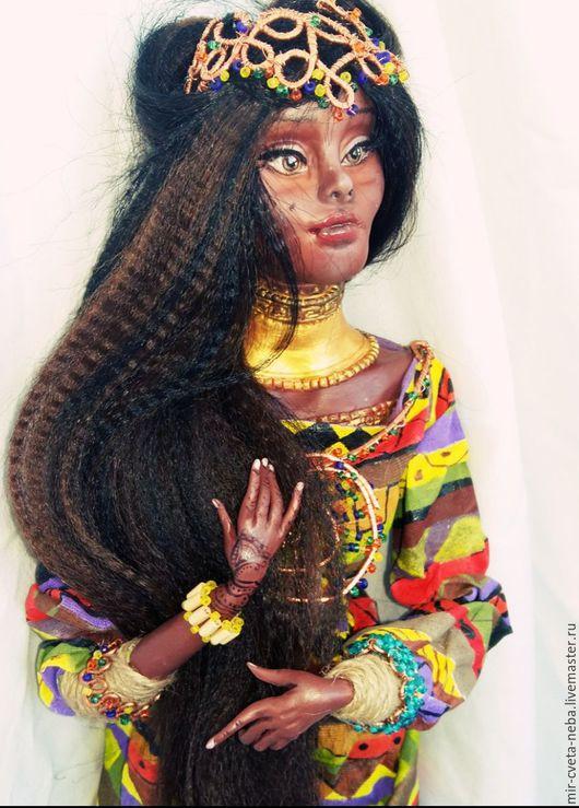 Коллекционные куклы ручной работы. Ярмарка Мастеров - ручная работа. Купить Африканская принцесса _ Айда. Handmade. Комбинированный