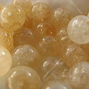 Материалы для творчества handmade. Livemaster - original item Citrine beads, 10 mm, smooth. Handmade.