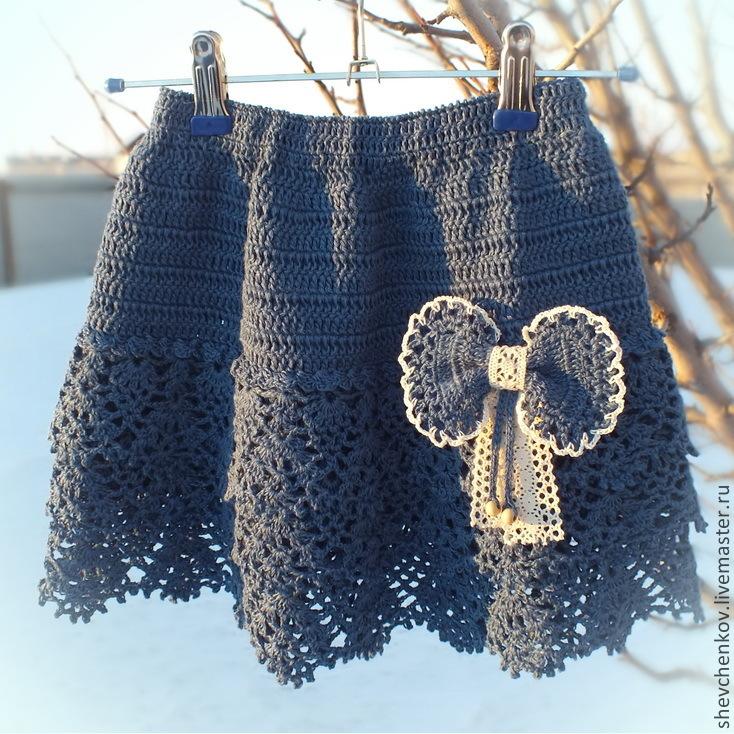 Синие юбки крючком