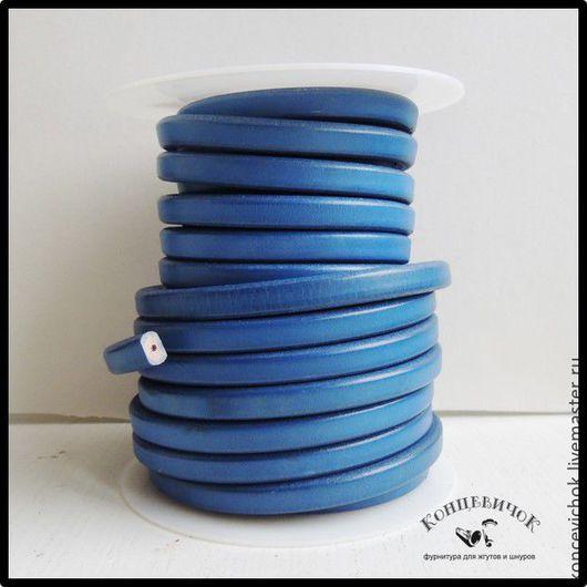 Для украшений ручной работы. Ярмарка Мастеров - ручная работа. Купить Шнур регализ синий с отверстием. Испания. Handmade. Синий