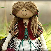 Куклы и игрушки ручной работы. Ярмарка Мастеров - ручная работа Девочка с корзинкой цветов.. Handmade.