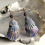"Украшения handmade. Livemaster - original item Long earrings of seashells ""Bosse"". Handmade."