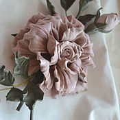 Украшения handmade. Livemaster - original item Leather flowers Brooch Millefeuille. Handmade.