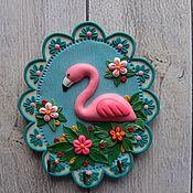 Для дома и интерьера handmade. Livemaster - original item Key holders wall: Housekeeper Pink Flamingo. Wall housekeeper.. Handmade.