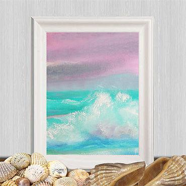 Картины и панно ручной работы. Ярмарка Мастеров - ручная работа Красивые пейзажи моря, пейзаж закат на море. Handmade.