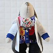 Куклы и игрушки ручной работы. Ярмарка Мастеров - ручная работа Зайцы. Зайка-доктор.. Handmade.