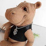 Куклы и игрушки handmade. Livemaster - original item felted Hippo BRUNO. Handmade.