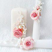 Свадебный салон ручной работы. Ярмарка Мастеров - ручная работа Свадебные свечи(семейный очаг)Нежность. Handmade.