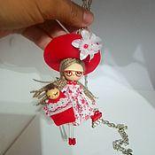 Подарки к праздникам handmade. Livemaster - original item Doll brooch and necklace. Handmade.
