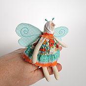 Куклы и игрушки ручной работы. Ярмарка Мастеров - ручная работа Текстильная кукла Бабочка. Handmade.