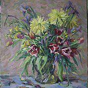52x57 тюльпаны и рудбекии