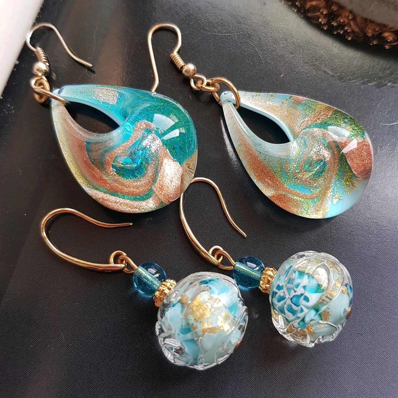 Earrings, Italy, murano glass, Earrings, St. Petersburg,  Фото №1