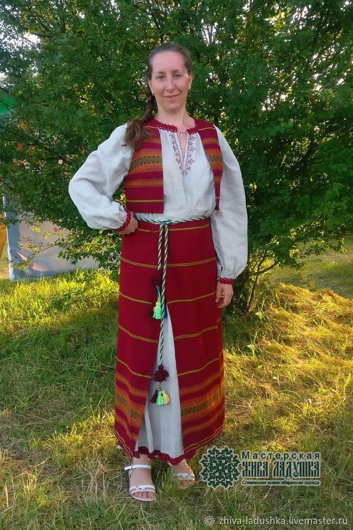 Костюм женский  понёва + жилетка, Костюмы, Орел,  Фото №1