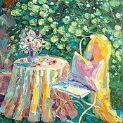 Картины и панно handmade. Livemaster - original item Oil painting on canvas. Favorite garden.. Handmade.