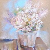 Картины и панно handmade. Livemaster - original item Caramel morning - painting with pastels. Handmade.