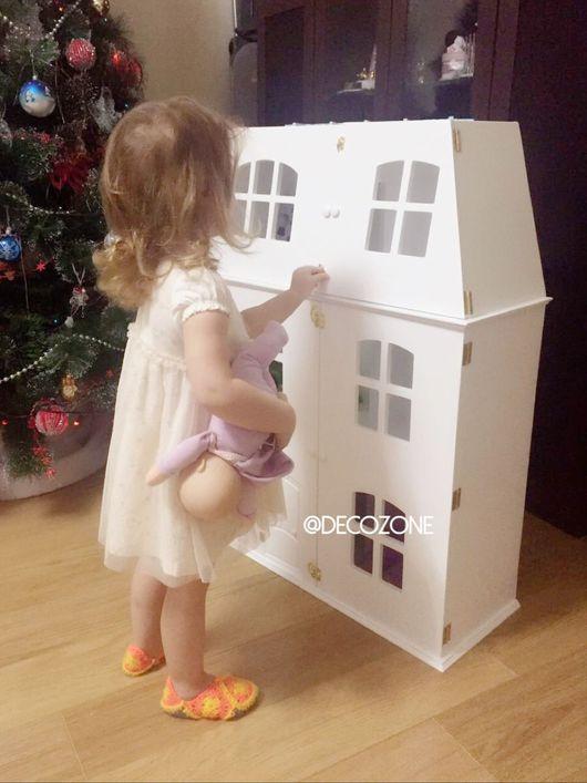 Кукольный дом ручной работы. Ярмарка Мастеров - ручная работа. Купить Кукольный дом с дверками. Handmade. Кукольный дом, игрушка