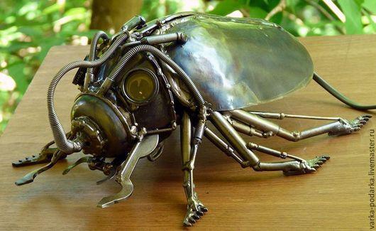 Освещение ручной работы. Ярмарка Мастеров - ручная работа. Купить Паровой жук. Handmade. Разноцветный, светильник