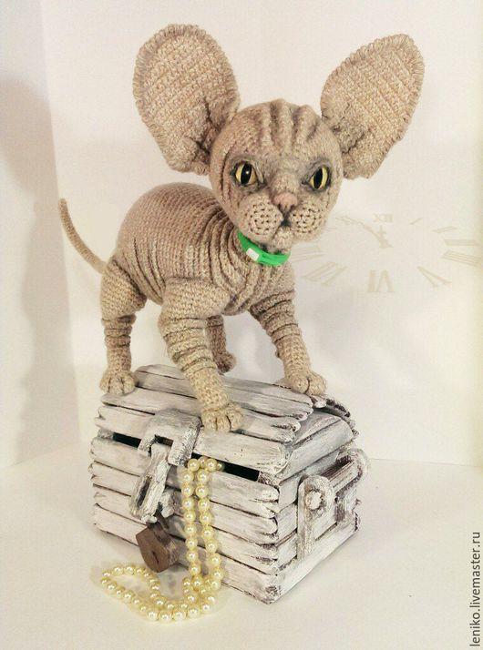 Игрушки животные, ручной работы. Ярмарка Мастеров - ручная работа. Купить вязаный кот. Котик сфинкс Филимон. Handmade. Handmade