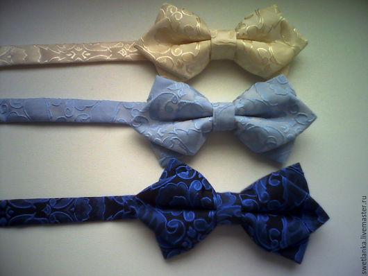 Галстуки, бабочки ручной работы. Ярмарка Мастеров - ручная работа. Купить Галстук-бабочка. Handmade. Бежевый, галстук-бабочка