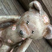 Куклы и игрушки ручной работы. Ярмарка Мастеров - ручная работа Мишка-Ангел из папье-маше. Handmade.