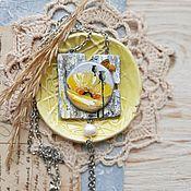 Украшения handmade. Livemaster - original item A pendant with a poppy from the collection of Solar poppies. Handmade.