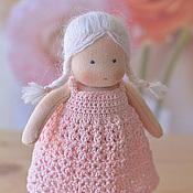Куклы и игрушки ручной работы. Ярмарка Мастеров - ручная работа Вальдорфская кукла Розочка, 15 см. Handmade.