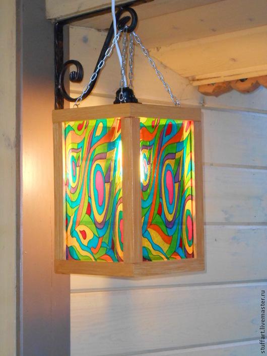 """Освещение ручной работы. Ярмарка Мастеров - ручная работа. Купить Фонарь """"Радуга"""". Handmade. Разноцветный, подарок на любой случай, фонарь"""