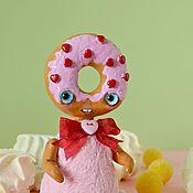Куклы и игрушки ручной работы. Ярмарка Мастеров - ручная работа Розовый пончик. Handmade.