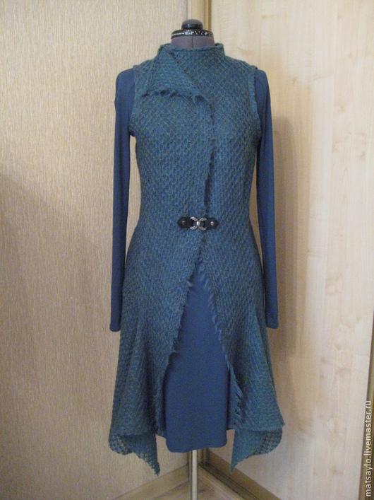 Платья ручной работы. Ярмарка Мастеров - ручная работа. Купить Платье с кардиганом. Handmade. Морская волна, пошив на заказ