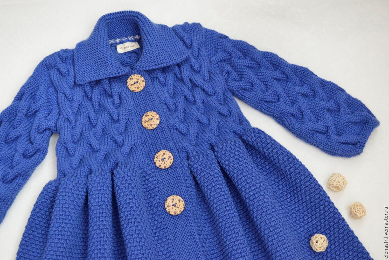 Вязаное пальто для девочки (79 фото детское пальто для)