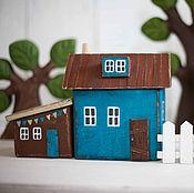 """Для дома и интерьера ручной работы. Ярмарка Мастеров - ручная работа Интерьерные деревянные домики """"Любимый дворик"""". Handmade."""