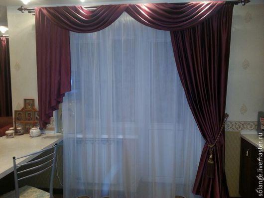 Текстиль, ковры ручной работы. Ярмарка Мастеров - ручная работа. Купить Комплект штор на кухню №23(объединенные кухня и гостиная). Handmade.
