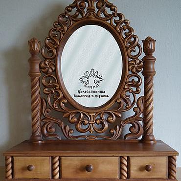 Для дома и интерьера ручной работы. Ярмарка Мастеров - ручная работа Туалетный столик с зеркалом из натурального дерева Ажур. Handmade.