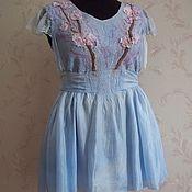 Одежда handmade. Livemaster - original item Tunic, Nuno felt Sakura. Handmade.