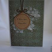 Открытки ручной работы. Ярмарка Мастеров - ручная работа Открытка к Новому году и Рождеству. Handmade.