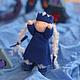Вальдорфская кукла ручной работы. Принцесска 11 см. SolarDolls, (Julia Solarrain)