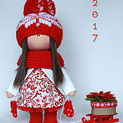 Куклы и игрушки ручной работы. Ярмарка Мастеров - ручная работа Куколка Новогодняя 2. Handmade.