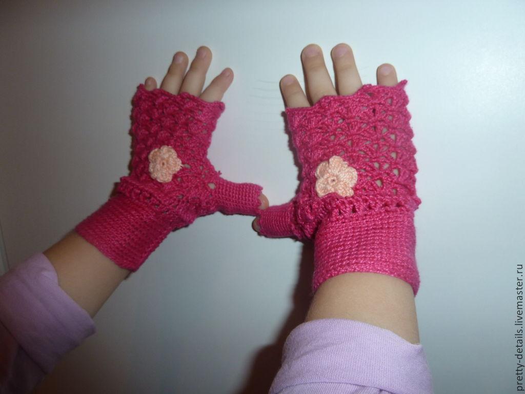 Вязание варежек спицами для детей от 3 лет 22