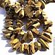 Для украшений ручной работы. Ярмарка Мастеров - ручная работа. Купить ..Кварц кристалл 21-30 мм золото огранка тонированный бусины подвески. Handmade.