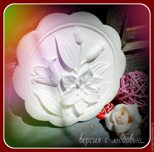 """Картины цветов ручной работы. Ярмарка Мастеров - ручная работа. Купить Панно """"Лилии"""". Handmade. Белый, панно настенное"""