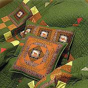 Для дома и интерьера ручной работы. Ярмарка Мастеров - ручная работа лоскутные подушки Охотничьи байки. Handmade.